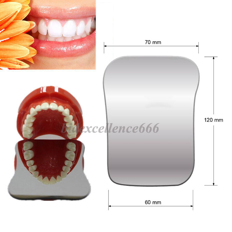 Dental Intraoral Orthodontic Photographic Glass Mirror 2sided Rhodium Occlusal