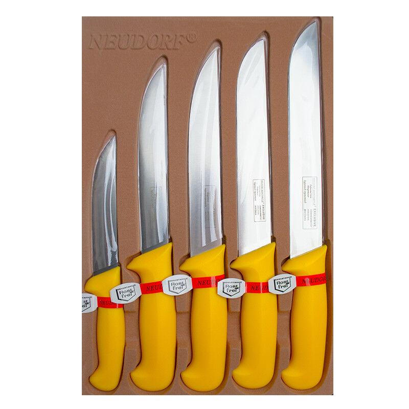 Metzgermesser Fleischermesser Set 5 tlg. Neudorf Manufaktur Schlachtermesser