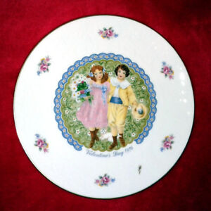 """Victorian Boy And Girl"" Collector Plate"