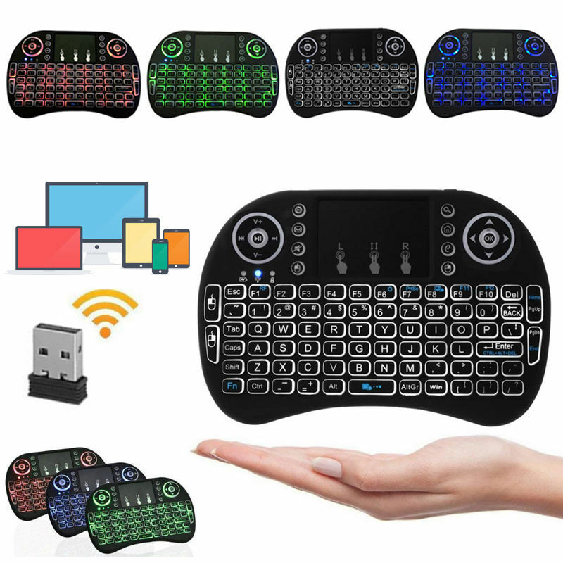 Mini 3 Colors Backlit i8 2.4GHz Wireless Keyboard Touchpad for TV Box Android PC Computers/Tablets & Networking