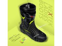 Profirst Genuine Leather Women Racing High Ankle Boots - Fluorescent