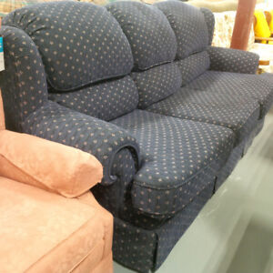 Blue comfortable sofa in excellent condition