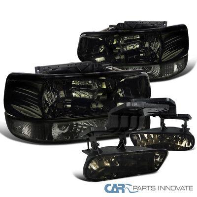 2002 Chevy Suburban - Chevy 00-06 Suburban Tahoe Smoke Lens Headlights+Bumper Lamps+Driving Fog Lights