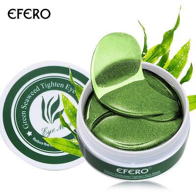 60Pc Green Seaweed Powder Gel Collagen Eye Mask Remove Dark Circles Eye Bags