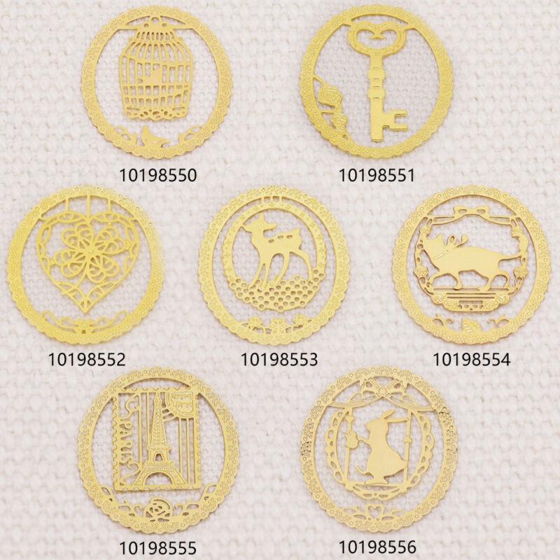 Rosebeading Metal Symbol Bookmark Clip Paper Clip Bookmark gold 29*25mm 5pcs