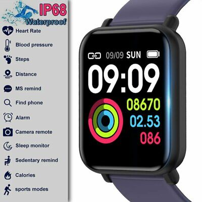 Smart Watch Heart Rate Oxygen Blood Pressure Fitness Wristband for IOS Android