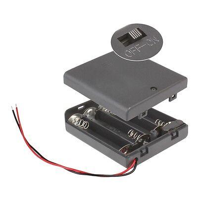 Batteriehalter 4x AA mit EIN-AUS Schalter / 4 x Mignon Batteriefach / 4xAA