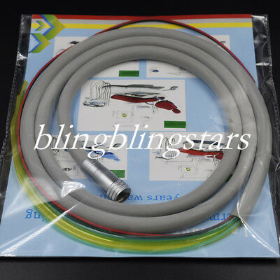 5 Pcs Dental Silicone Hose Tubing Air Turbine Motor Handpiece Connector 4 Holes