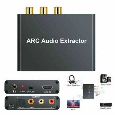 HDMI 192KHz ARC Audio Adapter Digital zu Analog SPDIF RCA Converter Extractor Hdmi Digital Audio
