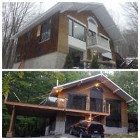 Services de construction et rénovations ,charpentier-menuisier