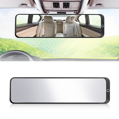 Car Inner Rear View 300mm Wide Field Blind Spot Plane Glass Mirror (Glass Accent Sheet)