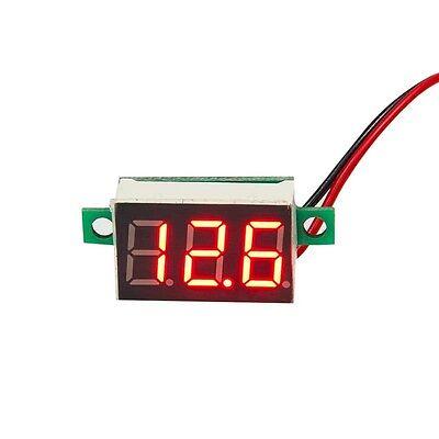 0.28 Red 2-wire Voltmeter Led Digital Display Voltage Panel Meter Voltmeter