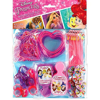 Disney Princess Mega Mix Party Pack Favors Girls Birthday Decoration Supply~48ct (Girls Birthday Party Favors)