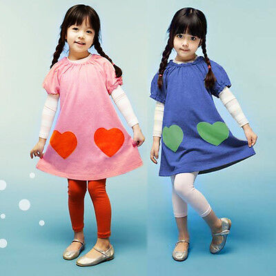 Cheap Kid Dresses (Little Girls Cute Pink Princess Dresses Kid Spring Holiday Maxi Clothes)