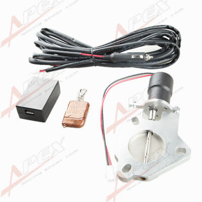 "3"" Inch 76mm Electric Exhaust Downpipe E-Cut Cutout Valve Motor + Remote Control"