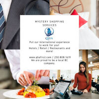 Mystery Shopping services!
