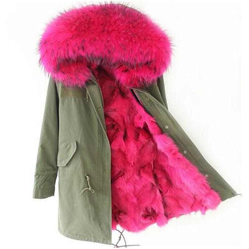 Parka Invernale Cappotto imbottito Da Donna collo in pelliccia e imbottitura!