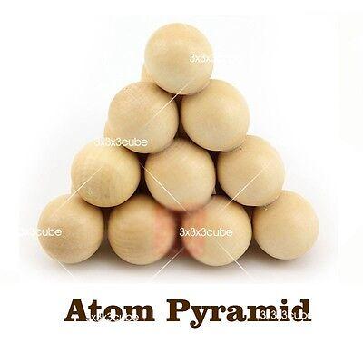 Very Fun   Atom Ball Pyramid Wood 3D Jigsaw Puzzle Wooden Structure Brain Teaser