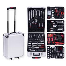 Juego de herramientas Maletin caja 187 pcs trolley ruedas acero carraca completa