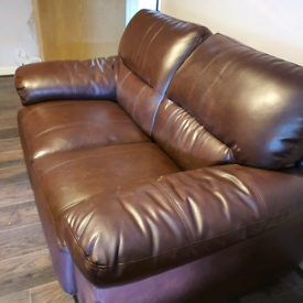 Faux leather couch £40