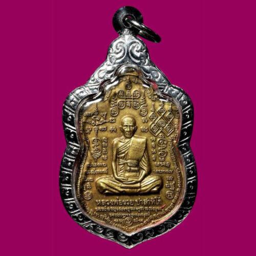 Phra LP Ruay Thai Case Pendant Wat Tako Temple b.e.2553 Talisman Buddha Amulet