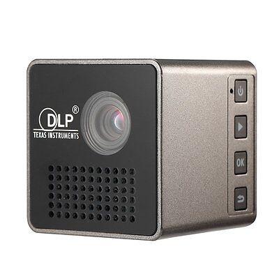 P1 25lm Portable Mini DLP Projector w/ Micro USB, 3.5mm,, TF Slot -Black