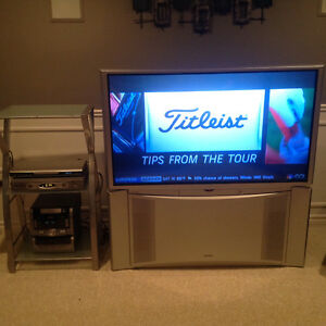 """Rear Projection 50"""" HD TV with stand Windsor Region Ontario image 1"""