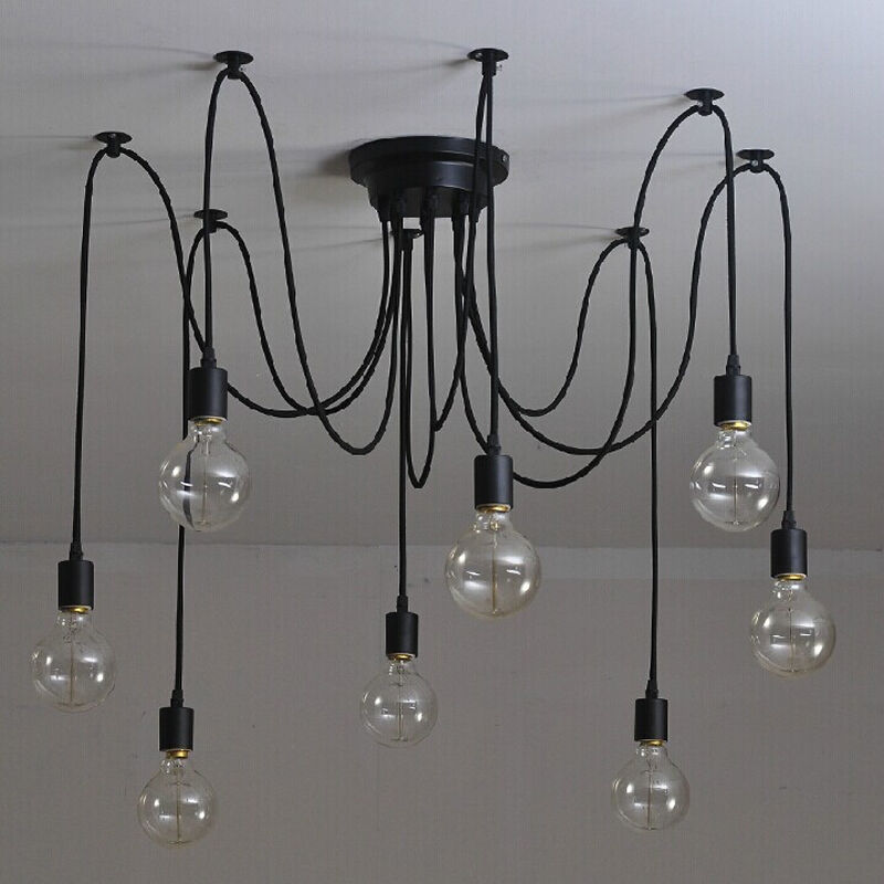 Vintage Edison Industrial Steampunk Light Loft Chandelier Ceiling Pendant Lamp
