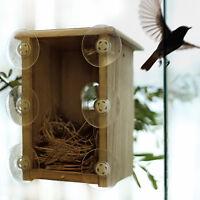 *** BRAND NEW *** WOOD BIRD NEST BOX : SEE THROUGH !!!