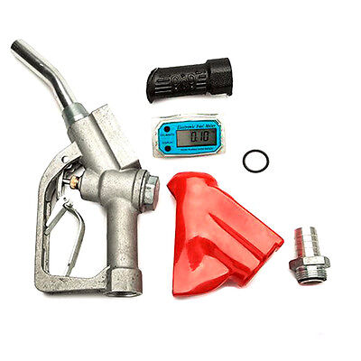 Usa Fuel Gasoline Diesel Petrol Oil Nozzle Digital Flow Meter Fuel Delivery Gun