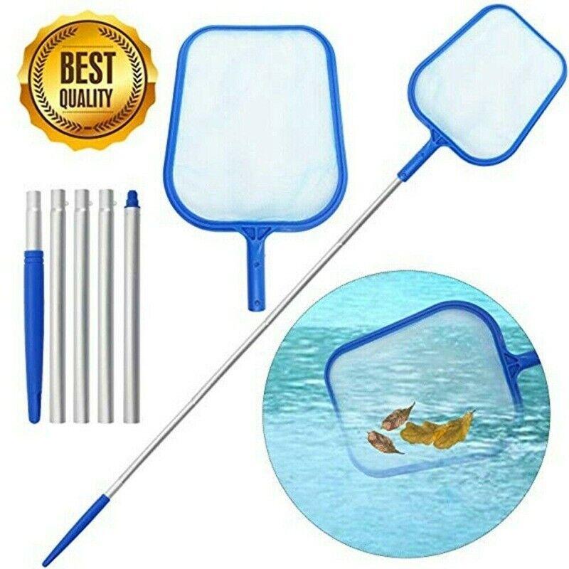 Swimming Pool Net Leaf Rake Mesh Skimmer w/Telescopic Pole Pools Spas Cleaner US