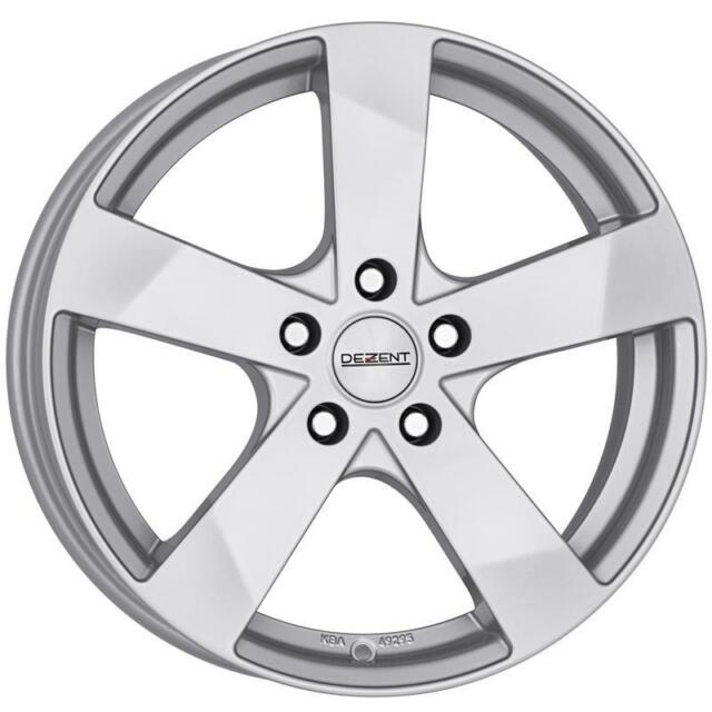 """17"""" DEZENT TD SILVER ALLOY WHEELS ONLY BRAND NEW 5x114.3 RIMS"""