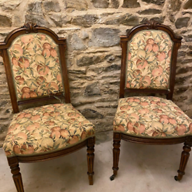 Vintage French dining chairs