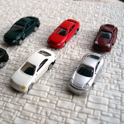 100 pcs N Scale 1/160th Nomally painted Model Cars #C