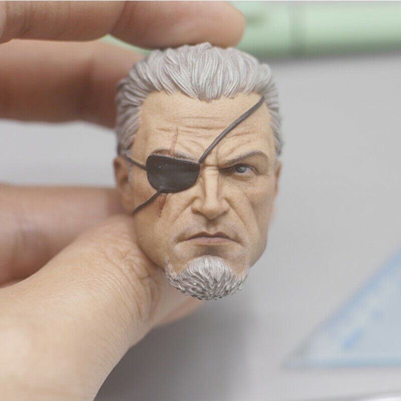 Slade Joseph Wilson Deathstroke Game Head Carving Model for 1//6 Action Figure