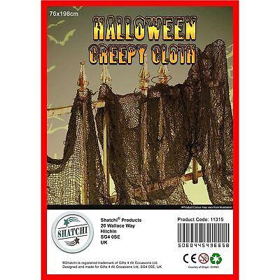 Gruselig Tuch Halloween Spooky Netz Tisch Tür Fenster - Halloween Tür Kostüm