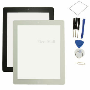 Replacement For iPad 3 iPad 4  Front Glass Digitizer Touch