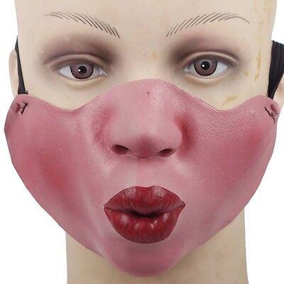 Latex Halbmaske Schmollende Groß Lippen Mick Jagger Kostüm - Mick Jagger Kostüm