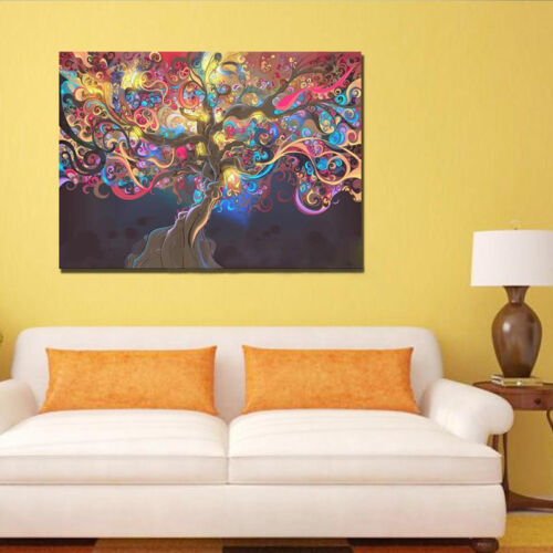 Psychedelic Trippy Tree Abstract Art Cloth Poster Indoor Wall Room ...