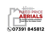 Fixed price aerials & satellites tv wall mounting glasgow