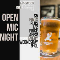 Open Mic Night at Westboro Clocktower tonight!!! 9-11 pm!!!!