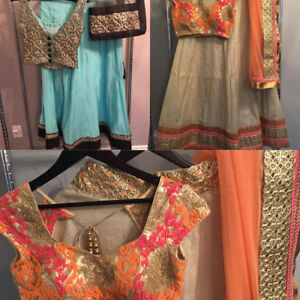 Indian suits, sarees, lengas, and blouses starting at $20