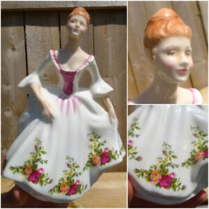 "VINTAGE 1988's ROYAL DOULTON ""COUNTRY ROSE"" PORCELAIN FIGURINE"