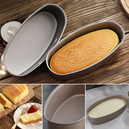 Non-stick Oval Shaped DIY Cheese Cake Mold Pan Aluminum Baking Tool Bakeware
