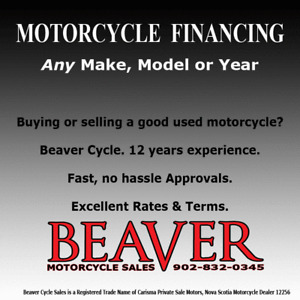 Yes...Private Sale Motorcycle FINANCING  is Available.