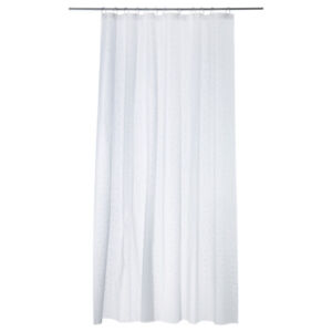 Shower curtains with hooks
