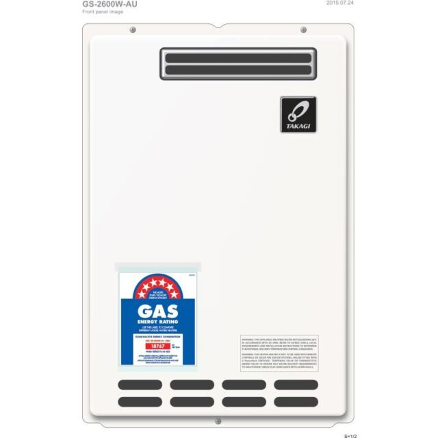 TAKAGI 20L 6 STAR LPG Bottled Gas Instantaneous Continous Gas Hot Water Heater