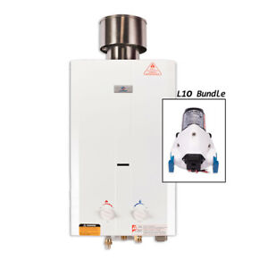 L10 Tankless Water Heater Bundle (12v Flojet Pump)