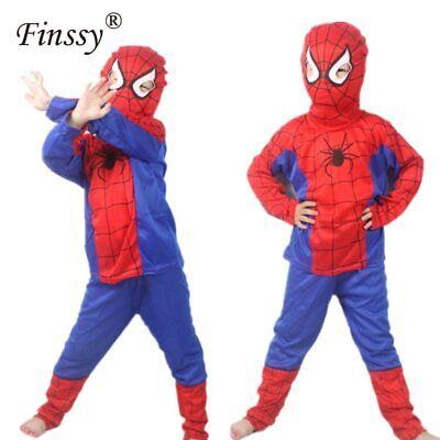 Disfraz De Hombre Araña Traje De Cosplay Para Niños Ropa De Fiesta De Halloween