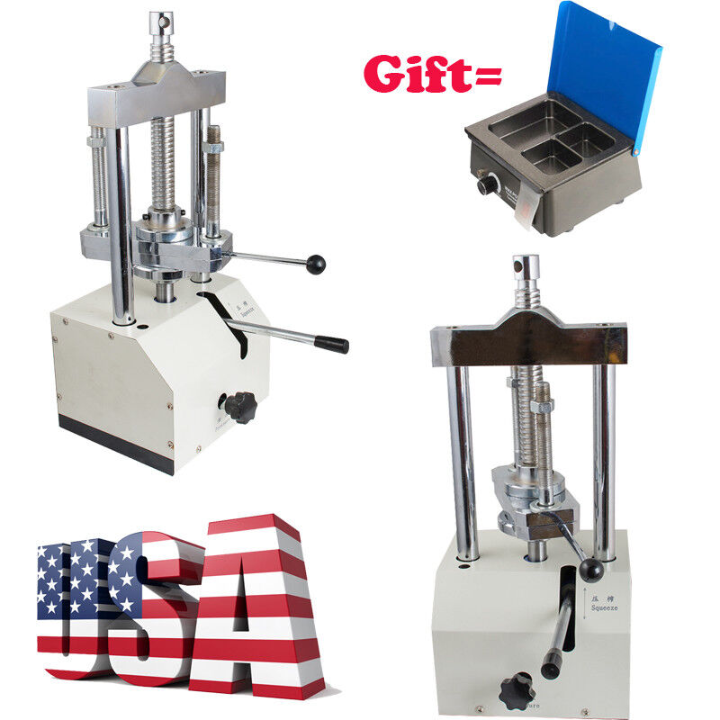 Dental Lab Hydraulic Press Flask Presser Pressure Warranty+Analog Wax Heater Pot